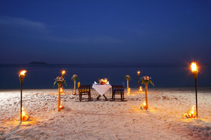 Image result for candlelight beach dinner